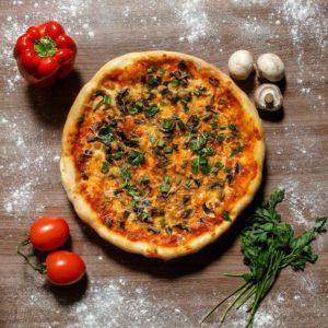 Заказать грибную пиццу