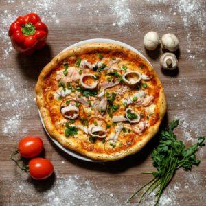 заказать пиццу с морепродуктами